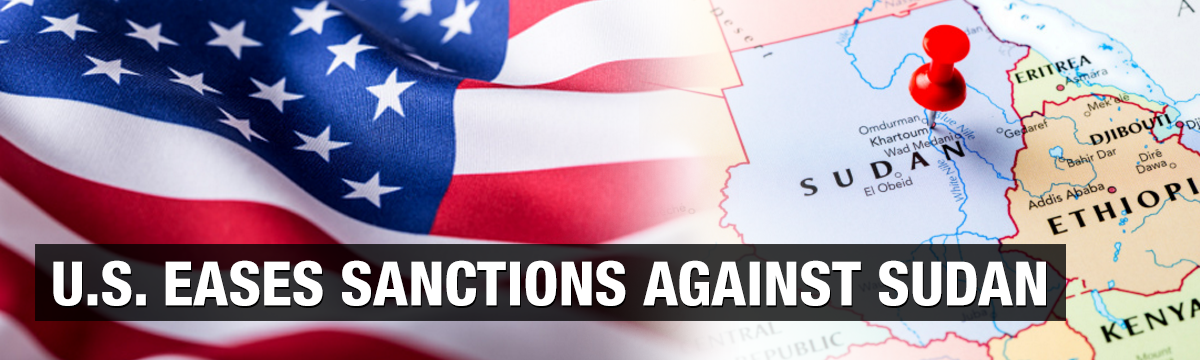 الولايات المتحدة تخفف العقوبات الاقتصادية على السودان